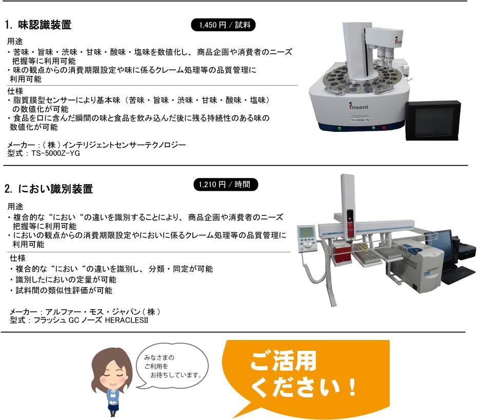 食品技術グループ導入機器